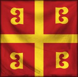 Byzantine Flag by Diasaleftis