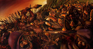 The Battle Of Thermopylae by Aranthulas