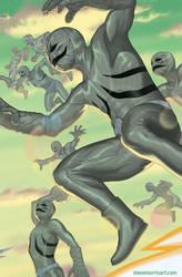 Variant cover Mighty Morphin Power Rangers #15 by StevenJamesMorris