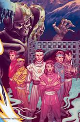Mighty Morphin Power Rangers variant cover #21 by StevenJamesMorris