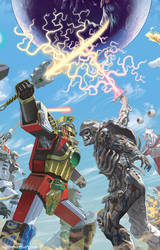 Mighty Morphin Power Rangers #23 Variant Cover by StevenJamesMorris