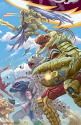 Mighty Morphin Power Rangers #24 Variant Cover by StevenJamesMorris