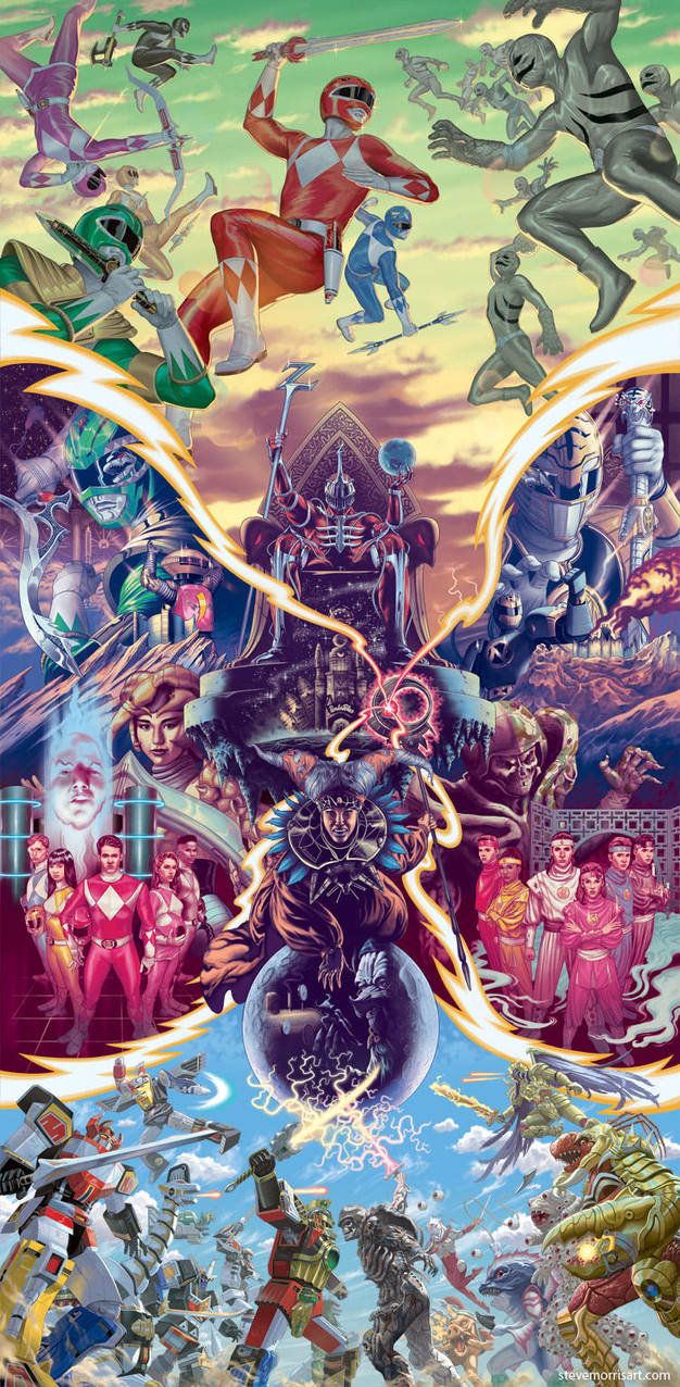 Mighty Morphin Power Rangers combined covers by StevenJamesMorris
