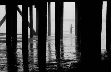 Under the pier by Nigel-Kell
