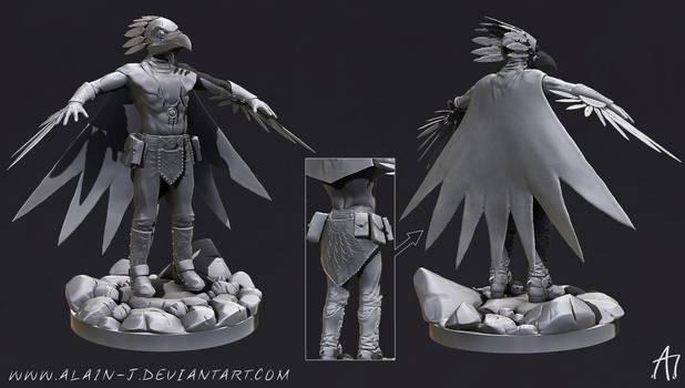 Mighty Raven Shaman High Poly Model by ALA1N-J