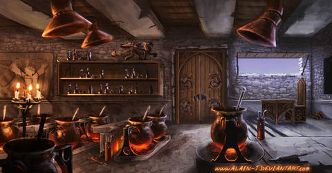 Magic and Alchemy Classroom by ALA1N-J