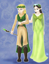 The Elven King and Queen by EbonySerpent