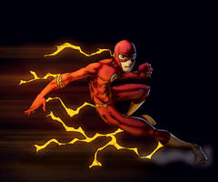 The Flash in colour by Spade92 by ParisAlleyne