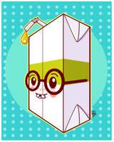 Dork Juice Box Boy by marywinkler