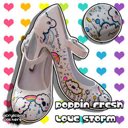 Poppin Fresh Love Storm Heels by marywinkler