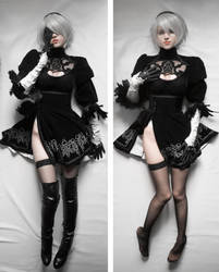2b cosplay dakimakura by pollypwnz