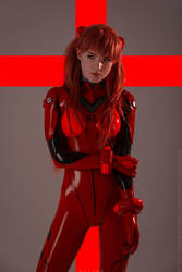 Asuka Langley in plugsuit by pollypwnz