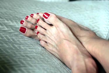 Worship the goddess's feet by EvaPolishfeet70