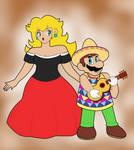 Mario and Peach Tostarena Look by CristianDarkraDx2496