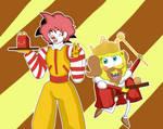 Goku McDonald and King SpongeBob by CristianDarkraDx2496