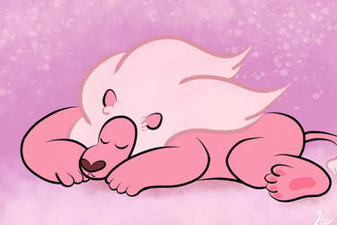 Steven Universe: Sleeping Lion by gissele365