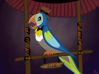 Disneyland: Tiki Room Jose Sketch by gissele365