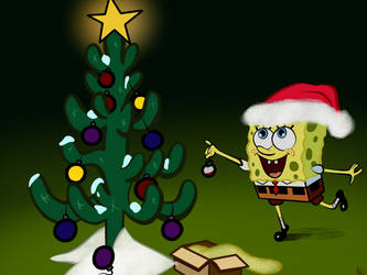 Spongebob Christmas: Redrawn by gissele365