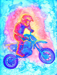moto (coloring book page) by arumise