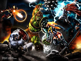 Hulk vs Avengers by JASONS21