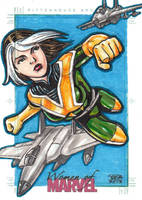 Women of Marvel - ROGUE sketch card 2 by JASONS21