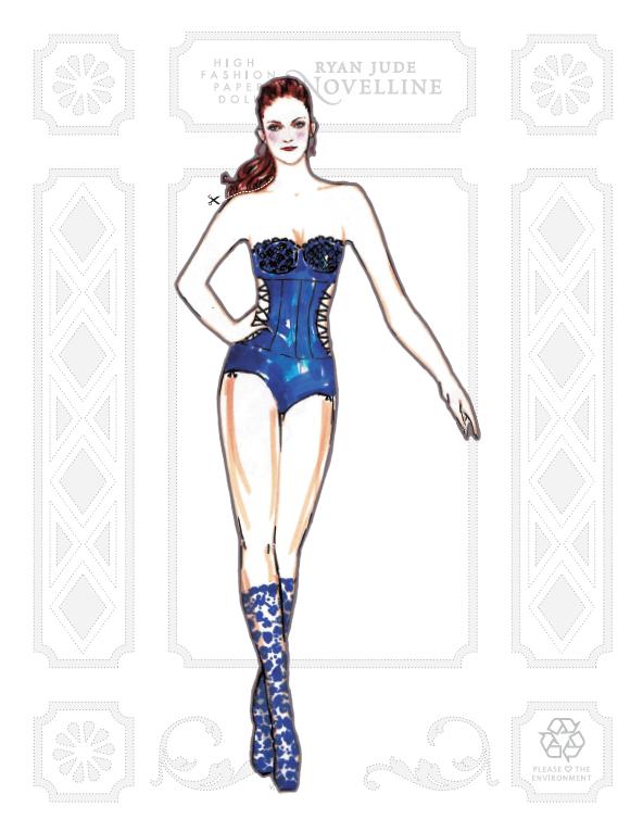 Paper Doll Kristen Stewart High Fashion Bella by NovellineArt