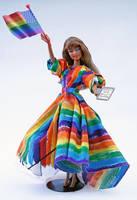 Marriage Equality OOAK Barbie Gay Pride Barbie Art by NovellineArt
