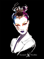 Karlie Kloss Dior Portrait | Video Tutorial by NovellineArt