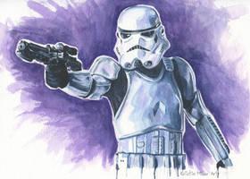 Stormtrooper by KristinMillerArt