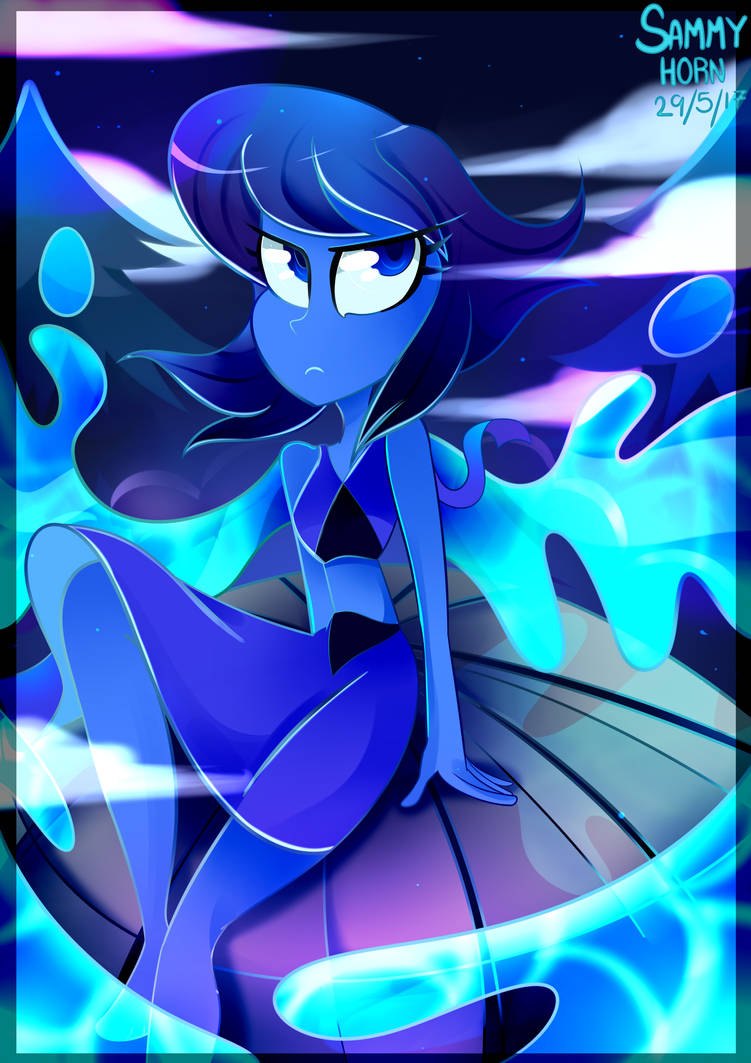 I wanted to draw Lapis! I love to draw with blues!