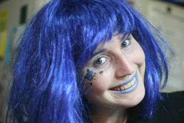 blue hair 1 by Naamonet-Stock