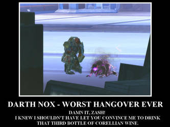 Darth Nox hangover by Konoko88