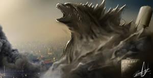 Godzilla a king rises by Birmelini