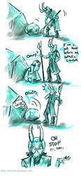 Loki Meets a Goron by Tavoriel