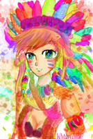 Colorful Indian Girl by Whitealone