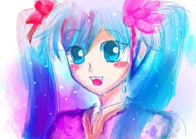 Miku Hatsune by Whitealone