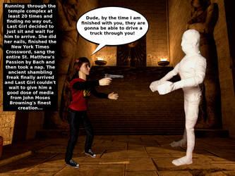 Last Girl Vs The Mummy 2 by darknessofanubis