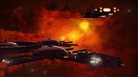 Phoenix Nebula Space Station by ILJackson