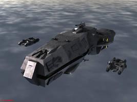 T.S.S. Midway in Low Orbit by ILJackson