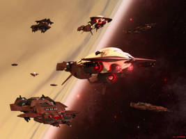 Rhtharian Fleet by ILJackson
