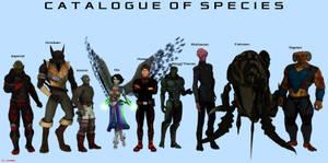 Major Sentient Species Visual Guide by ILJackson