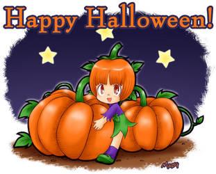 Pinoko Pumpkin Head -Halloween by maiyeng