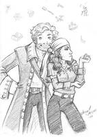MI2 - Guybrush and Elaine by anla