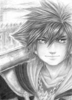 Kingdom Hearts 2: Sora by anla