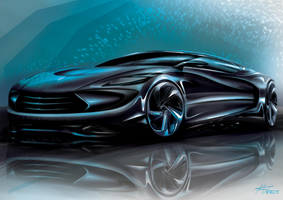 Photoshop Render Car Design by mickeyd1o1