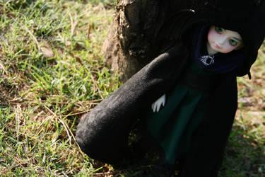 Vampire princess wearing cape by Devne