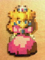Peach - Super Mario RPG - Bead Sprite by flamemandala