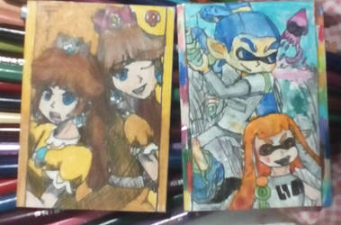 Inklings and Daisy Smash Bros Cards by MidnaXLink16