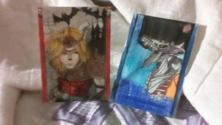 Ridley and Simon Belmont Smash Bros Cards by MidnaXLink16