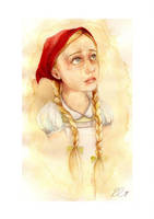 Portrait of Red Riding Hood by rose-colligan